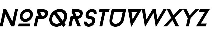 BaronNeueItalic Font UPPERCASE