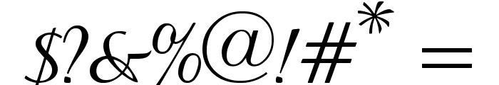 Baroque Script Font OTHER CHARS