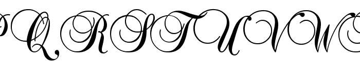 Baroque Script Font UPPERCASE