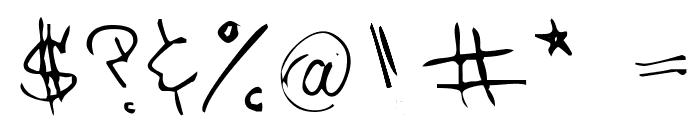 Barrakuda'z FontZamba Font OTHER CHARS
