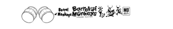 BarrelOfMonkeys Font LOWERCASE