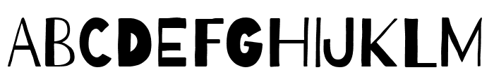 Barrio Regular Font UPPERCASE