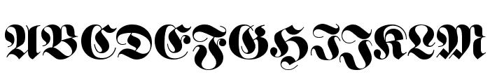 Barron Font UPPERCASE