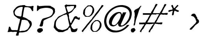 Bart Italic Font OTHER CHARS