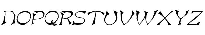 Bart Italic Font UPPERCASE