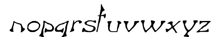 Bart Italic Font LOWERCASE
