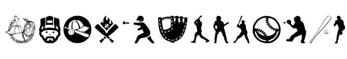 Baseball Icons Font UPPERCASE