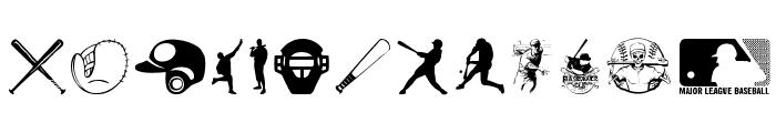 Baseball Icons Font LOWERCASE