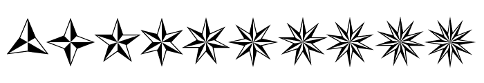 Basic Star Font OTHER CHARS
