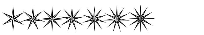 Basic Star Font UPPERCASE