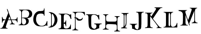 Baskertown Font UPPERCASE