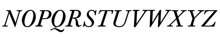 Baskerville-Normal-Italic Font UPPERCASE
