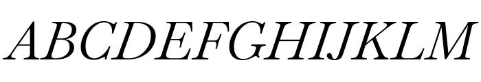 Baskervville Italic Font UPPERCASE