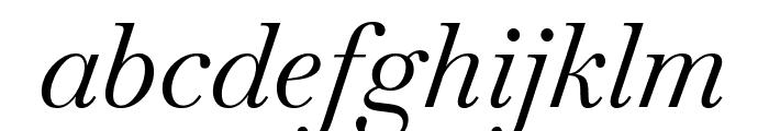 Baskervville Italic Font LOWERCASE