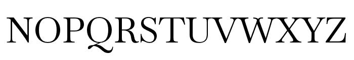 Baskervville Regular Font UPPERCASE