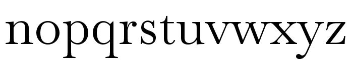 Baskervville Regular Font LOWERCASE