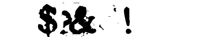 Basketcase Roman Font OTHER CHARS