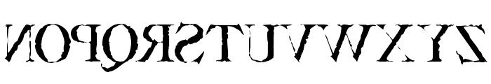 Bassackwards Font LOWERCASE