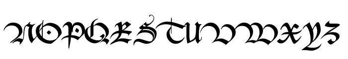Bastarda-K Font UPPERCASE