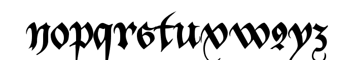 Bastarda-K Font LOWERCASE