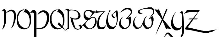 Bastarda Plain: Font UPPERCASE