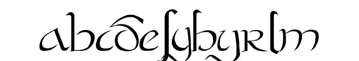 Bastarda Plain: Font LOWERCASE