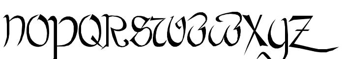Bastarda Font UPPERCASE