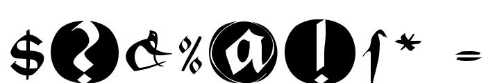 BastardaButtonsBeta Font OTHER CHARS