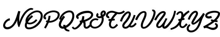 Bastardilla Font UPPERCASE