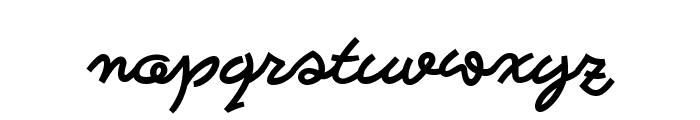 Bastardilla Font LOWERCASE