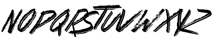 Basterds Font LOWERCASE
