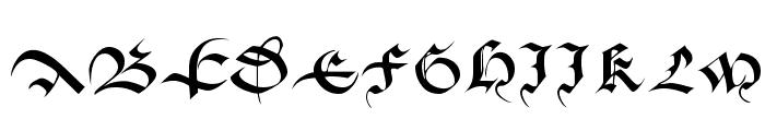 Batarde Font UPPERCASE