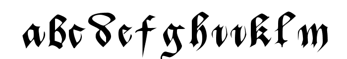 Batarde Font LOWERCASE