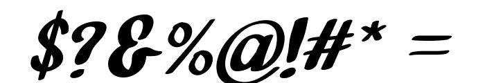 Bathi Italic Font OTHER CHARS