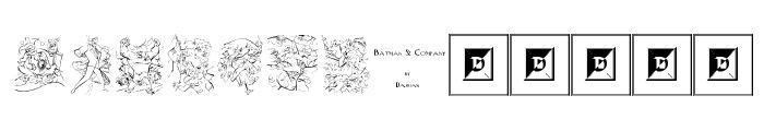 Batman and Company Font LOWERCASE