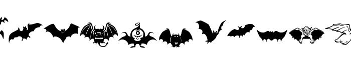 Bats-Symbols Font LOWERCASE