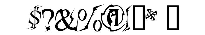 Bats&Dragons-Abaddon Font OTHER CHARS