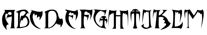 Bats&Dragons-Abaddon Font UPPERCASE