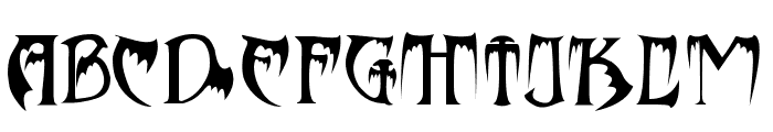 Bats&Dragons-Abaddon Font LOWERCASE