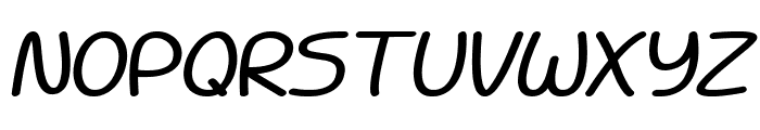 Battenberg and Custard Bold Italic Font UPPERCASE