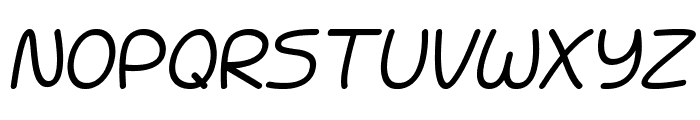 Battenberg and Custard Italic Font UPPERCASE