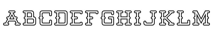 Batter Up Outline Font UPPERCASE