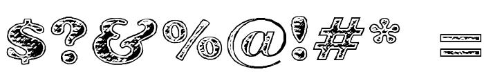 Battered Cooper Font OTHER CHARS