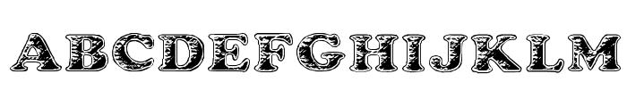 Battered Cooper Font UPPERCASE