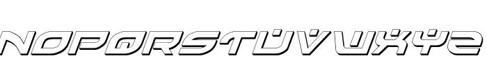Battlefield Shadow Italic Font UPPERCASE