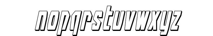 Battleworld 3D Italic Font LOWERCASE