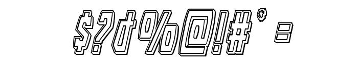 Battleworld Engraved Italic Font OTHER CHARS