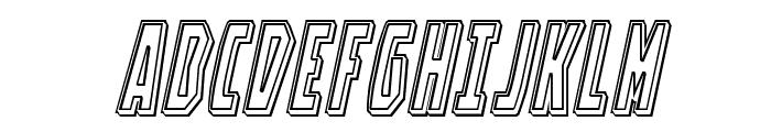 Battleworld Engraved Italic Font UPPERCASE