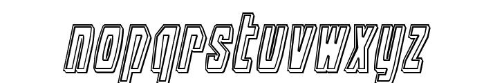 Battleworld Engraved Italic Font LOWERCASE