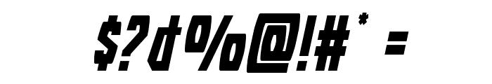 Battleworld Expanded Italic Font OTHER CHARS